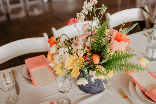 Assorted flowers on the table